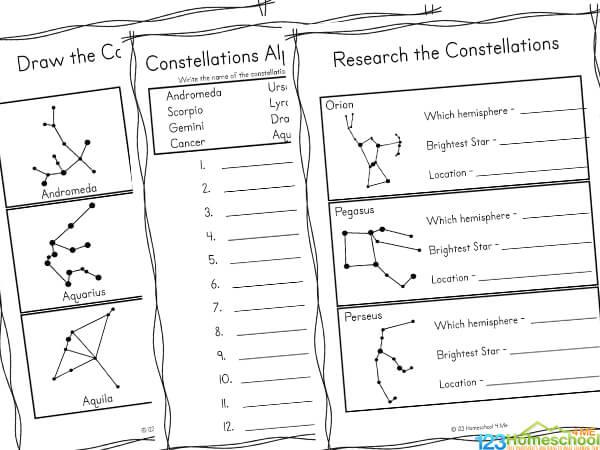 Constellation Printables