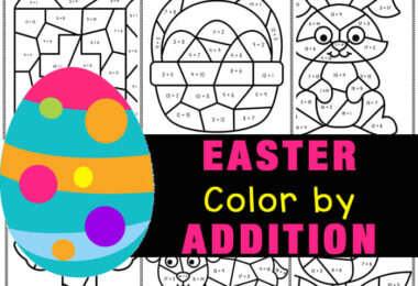 Make practicing addition fun with these NO PREP easter color by number addition. TheseEaster Math, FREE printable Easter themed color by addition (11-20) printables. These color by addition pictures include a lamb, tulip, Easter egg, chick, bunny and more. These easter math worksheets are perfect for, preschool, pre-k, kindergarten, and first graders to work on visual discrimination and math skills as they color by code to bring these fun Easter themed objects to life. Simply download pdf file witheaster math worksheetsand you are ready foreaster activities for kindergarten.