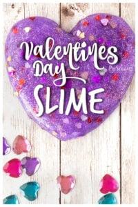 Glittery Purple Valentine Slime