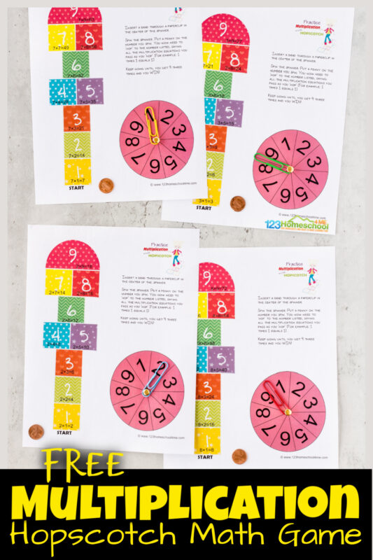 Is your child tired of drilling their multiplication tables with multiplication worksheets and multiplication flashcards? Multiplication hopscotch is a fun printable multiplication game that elementary school kids from 3rd grade, 4th grade, 5th grade, and 6th grade students will have fun playing by themselves formultiplicatin practice. Simply print free multiplication math games pdf file with to have fun while learning and reviewingmath drills multiplication.