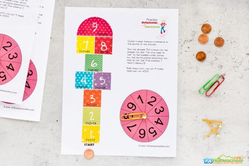 Printable Multiplication Game