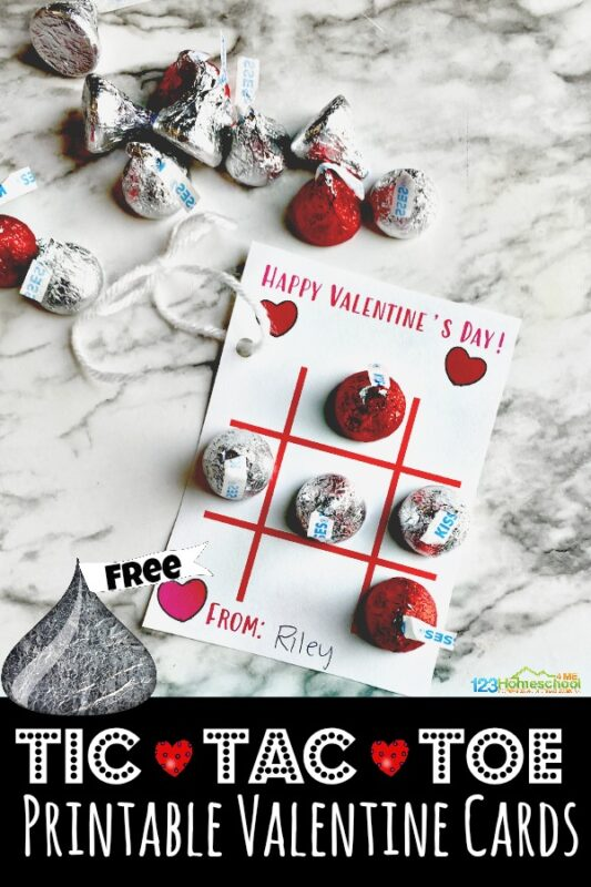 Celebrate Valentines Day this February 14th by telling those around you that you care with these super cute, free printable valentine cards. These Tic-Tac-Toe Printable Valentine Cards are perfect for giving to your kids, friends, valentines for classmates, neighbors, and more. They are simple, cute, a little sweet, and low prep. SImply download pdf file with Valentines day cards printable and you are ready to celebrate Valentines day for kids!