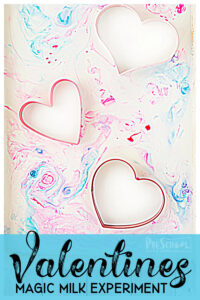 Valentines Day Magic Milk Science Experiment for Preschoolers