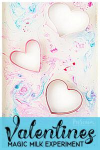 Valentines Day Magic Milk Science Experiment for Preschoolers