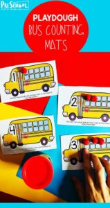school bus playdough mats