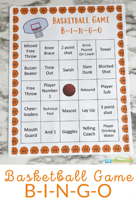 Do you watch the March Madness Basketball Tournament? It is huge in this family. It rivals Christmas with the food we make, the commitment, and the fun. We are a big basketball family! Younger kids want to be involved but don't quite understand all of the concepts of the games, so this Basketball Bingo will help them stay engaged with the game but in their own way, without feeling lost! Simply download pdf file withBingo Basketball and you are ready to play!