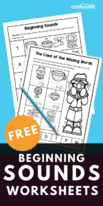 Help kids work on learning the sounds letters make with these super cute, free printable, beginning sounds worksheets. These initial sounds worksheet pages help pre-k, kindergarten, and first grade students practice matching letters with their phonemic sound. There are four different beginning sounds activities in this NO PREPbeginning sound worksheets for kindergarten. Simply download pdf file with beginning sounds worksheets free and you are ready to work onkindergarten phonics!
