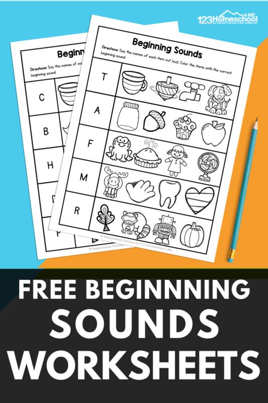 Free Beginning Sounds Worksheets For Kindergarten And First Grade