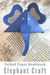 If you are looking for a funelephant craft you will love this handyorigami elephant easy! Thiselephant paper craftis simple to make and fun for all ages - toddler, preschool, pre-k, kindergarten, first grade, and 2nd grade students. Plus it encourages reading which is a WIN in my book! Let me show youhow to make an origami bookmark.