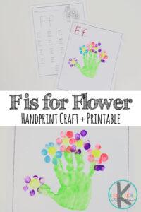 flower handprint craft
