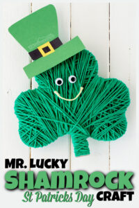 This super cuteShamrock craft is such a fun, easy-to-makest patricks day craft to make in March. All you need are a few common supplies like yard for this st patrick's day activities preschool, toddler, pre-k, kindergarten, and first graders.This happy shamrock is sure to be a favorite shamrock art projectsidea.