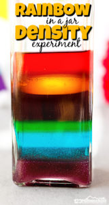 Have you ever tried making aRainbow in a Jar project? If you haven't tried this classicdensity experiment, I'm going to show you how easy it is to make with a few common household items! Thisrainbow science experimentis so pretty and will amaze your preschool, pre-k, kindergarten, first grade, 2nd grade, 3rd grade, 4th grade, 5th grade, and 6th grade students. Try thisrainbow experiment as part of a weather theme, St Patricks Day activity, arainbow theme or aspring activity for kids.
