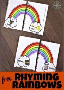 rainbow rhyming puzzles