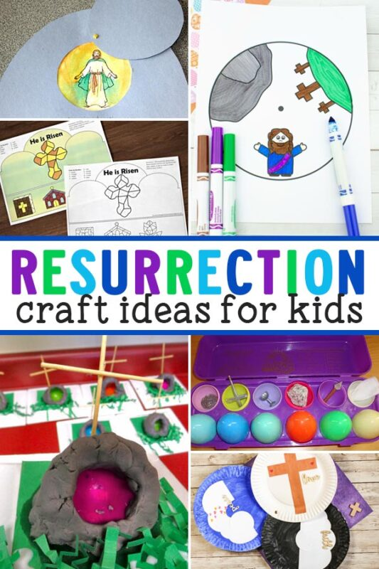 Kids will have fun learning about and remembering the Resurrection story with these religious Easter Resurrection crafts.
