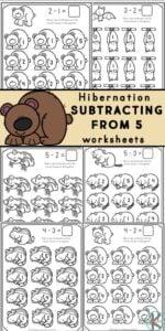 hibernating animals subtraction within 5