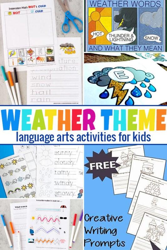 Language Arts Weather Printables