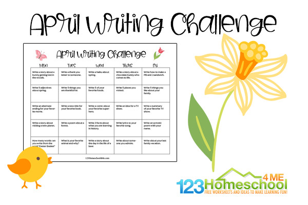 April writing challenge
