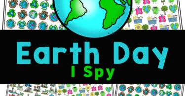 Celebrate Earth Day on April 22nd with cute Earth Day I Spy pages! Young children will love these worksheets to work on countingwith a hands-on activity.