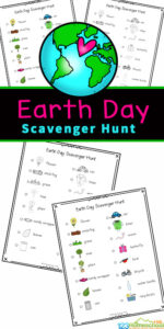 Earth Day is a great time to teach kids about caring for the planet. Kids will enjoy getting out and walking around the neighborhood, getting some exercise, while searching for different items such as a bird, flower and worm, as part of this Earth Day Scavenger Hunt. This Earth Day activity is fun for toddler, preschool, pre-k, kindergarten, first grade, 2nd grade, and 3rd grade students as it contains not only the name, but a cute picture too. Simply download earth day worksheets pdf file with spring scavenger hunt in color or black and white and you are ready to play!