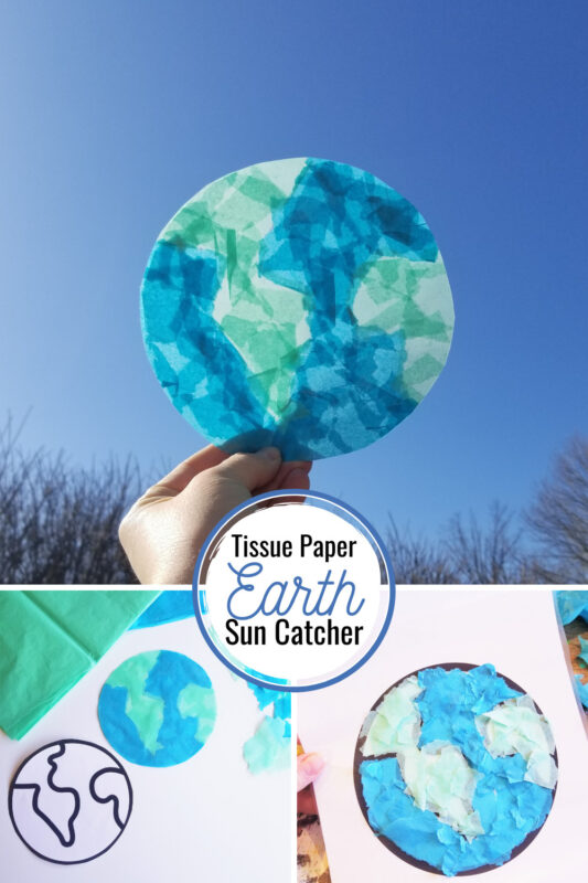 Celebrate that today isEarth day for kids with this super cute Earth Day craft you can make with your kids today! As this earth day suncatcheris so pretty and simple to make, it make a greatearth day ideas for kids of all ages from toddler, preschool, pre-k, kindergarten, first grade, 2nd grade, 3rd grade, and 4th grade students. Simply download earth printable to make this cuteearth day crafts for preschoolers.