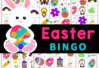 Celebrate the seaons with a fun Easter Bingo! This Easter Bingo Printable is a no-prep activity for kids of all ages using a FREE Easter game printable!