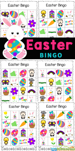 Celebrate Easter with this fun Easter Bingo! This Easter Bingo Printable is a no prep easter activity for preschool, toddler, pre-k, kindergarten, first grade, 2nd grade, 3rd graders, and families. This Easter game printable is super cute and FREE. Simply download the Easter Bingo Game pdf file with the easter game for kids and you are ready to play !