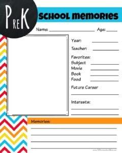 Free Printable Memory book templates pdf