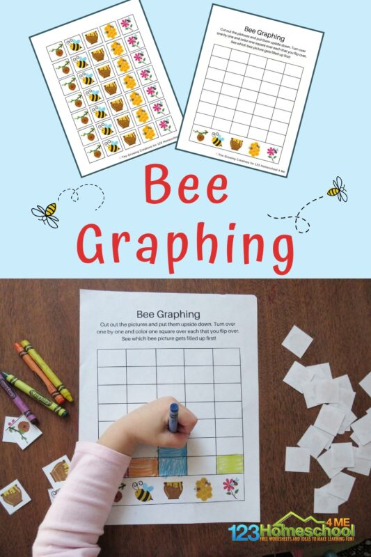 This kindergarten graphing has a fun bee theme perfect for spring! Thisgraphing activities for kindergarten, preschool, pre-k, and first grade is such a fun spring math andpictorgraph activities for kidnergarten.
