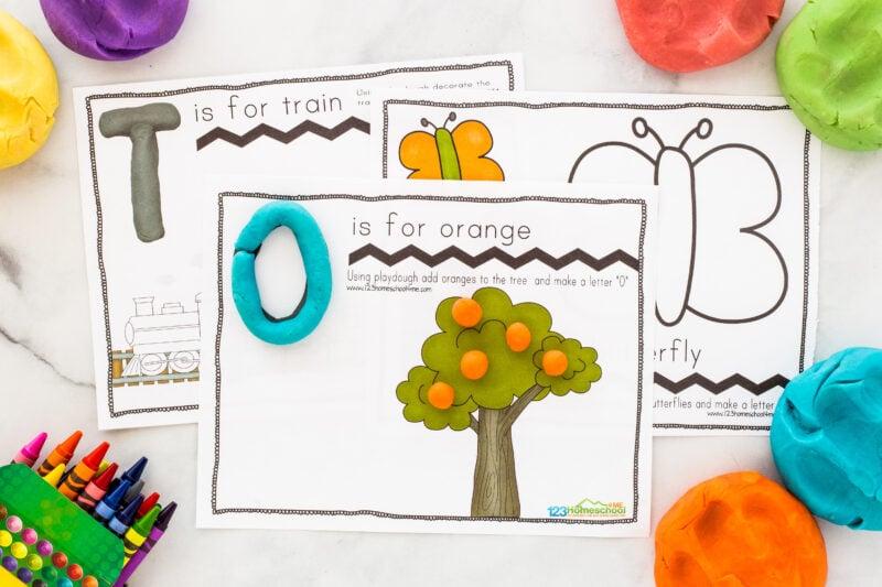 Playdough alphabet