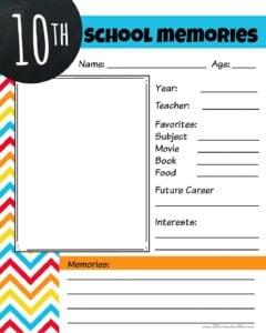 School years memory book
