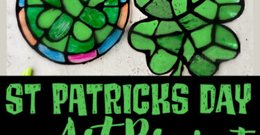 Looking for a really fun and easy-to-makeshamrock craft? This cuteSt Patricks Day Artproject uses a template to make thisst Patrick's day preschool craft simple enough for toddler, pre-k, kindergarten, first grade, 2nd grade, and 3rd graders too. All you need is black glue and colorful sharpie markers to make a truly beautiful four leaf clover or rainbow suncatcher craft. Simply download pdf file withst patrick's day printableand you are ready to get crafty!