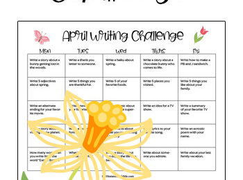 Grab these free printable writing prompts to make sure kindergarten, first grade, 2nd grade, 3rd grade, 4th grade, and 5th grade students keep writing during spring! Thesewriting prompts for april are no prep - just print theapril writing challengecalendar and you are ready to make writing fun this springtime. Simply download pdf file with april writing promts and you are ready for spring writing activities!