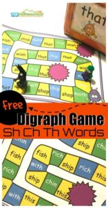 digraph board game for working on sh, ch, th words