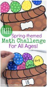 easter math challenge mutliplication