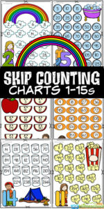 These fun, free printable skip counting posters are great if you are working on learning to skip count with your student! These skip counting charts allow kindergarten, first grade, 2nd grade, 3rd grade, and 4th grade students to memorize these facts to prepare for multiplication. Each skip counting poster has a fun theme to keep kids engaged and eager to practice math! This skip counting activity includes counting by 2s - 15s to go along with those homeschooling with Classical Converstations Foundations! Simply print pdf file with skip counting worksheets and you are ready to memorize skip counting to 15.