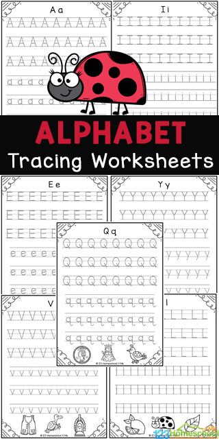 Young children will have fun learning the letters and sounds of the alphabet while working on their handwriting and fine motor skills with these fun andfree printable preschool worksheets tracing letters. Thesealphabet tracing worksheets are print and go and great for NO PREP practice of upper and lowercase letters. Theseletter tracing worksheets are great for preschool, pre-k, kindergarten, and first graders too. Simply download pdf file withalphabet trachign sheets and you are ready to practice!