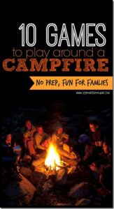 Nothing says summer like going camping and having a big bonfire roasting marshmallows, telling stories, and creating memories as a family using camp fire games. Kids of all ages will enjoy these campfire games! Your family is going to have fun, get closer, and create priceless memories playing these no-prepcampfire games for kids!