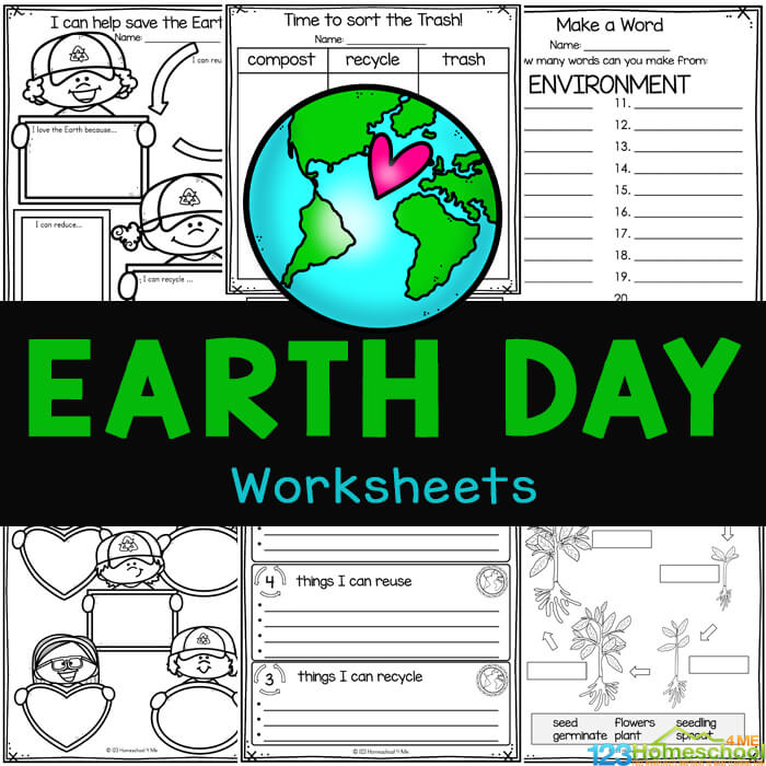Learn about Earth Day for Kids with super cute earth day worksheets. Theseearth day printables are for kindergarten and elementary students.
