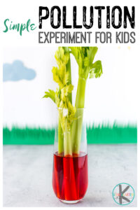 Earth Day Science - water pollution experiment for kids