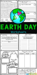 Learn about Earth Day for Kids with these super cute earth day worksheets. Theseearth day worksheets for kids are a geat way for kids to learn how they can do to help look after the planet. Use theseearth day worksheets for kindergarten, pre-k, first grade, 2nd grade, and 3rd graders. Simply download pdf file withearth day printables and you are ready for a no prepearth day activity.