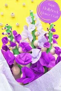Make a lovely bouquet oftissue paper flowers to celebrate the arrival of spring, summer, or as a beautifulMothers day craft for kids to make. Thisflower craft can be done by younger kids like preschool, pre-k, kindergarten, first grade, 2nd grade, and 3rd graders with help or older elementary age kids in4th grade, 5th grade, 6th grade and up by themselves. No matter why you make these prettyhollycock flowers, thisflower craftis sure to brighten up your space and is lots of fun to make too!