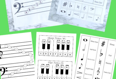 If you are looking for some handy, freemusic printables for teaching childrenhow to read music, you will love thesemusic worksheets andmusic activities for kids. These pages will help kindergarten, first grade, 2nd grade, 3rd grade, and 4th graderslearn to read music.Simply download pdf file withreading music notes projects and you are ready to play and learn!