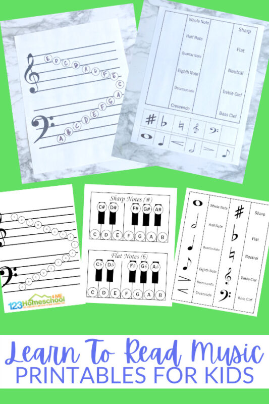 If you are looking for some handy, freemusic printables for teaching childrenhow to read music, you will love thesemusic worksheets andmusic activities for kids. These pages will help kindergarten, first grade, 2nd grade, 3rd grade, and 4th graderslearn to read music.Simply print pdf file with reading music notes projects and you are ready to play and learn!