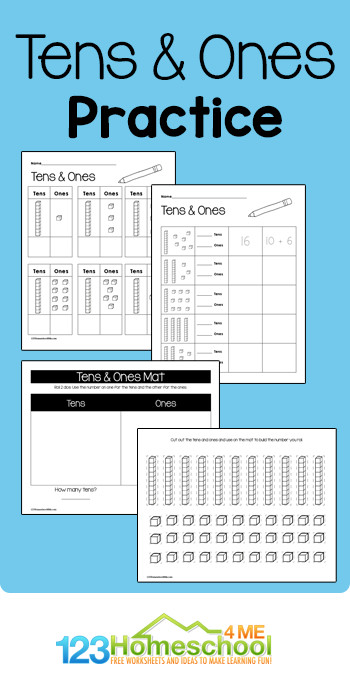 Free Place Value Worksheets With Tens And Ones Kindergarten place value worksheets pdf