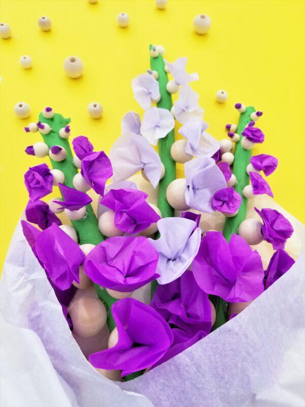 Purple Hollyhock Craft