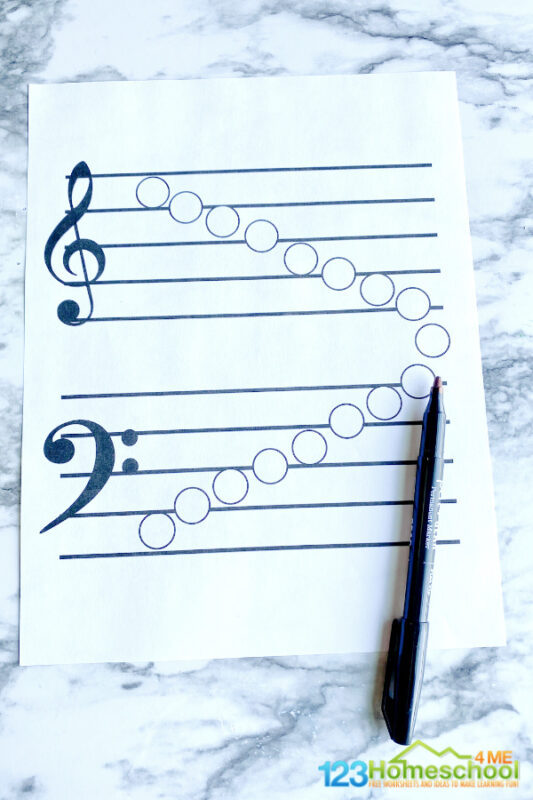 Reading music notes