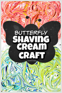 This prettybutterfly craft is as fun to make as it is beautiful! Thisshaving cream craftis surprisingly SIMPLE to make, but with incredibly complex colors in the marbling ofpainting with shaving cream. Toddler, preschool, pre-k, kindergarten, first grade, 2nd grade, and up will want to make thisbutterfly craft for kids! So add thisshaving cream art project to your bucket list ofsummer crafts for kids!