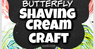 Pretty, fun-to-makebutterfly craft with stunningshaving cream art project marbeling effect. Surprisingly SIMPLE summer crafts for kids!