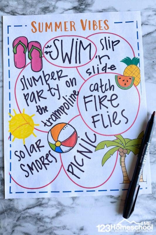 Summer bucket list ideas for teens