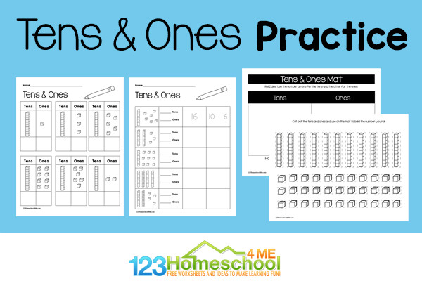 Learn about place value: tens and oneswith NO PREP place value worksheets for double-digit numers. Download tens and ones worksheets pdf!